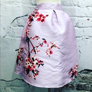 NWT Lavender Cherry Blossom Pinup Skirt